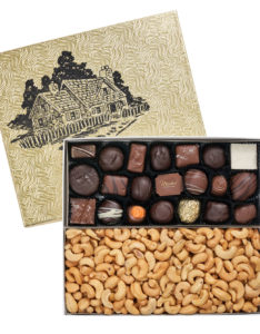 2 Section Gift Box (Chocolates and Nuts)